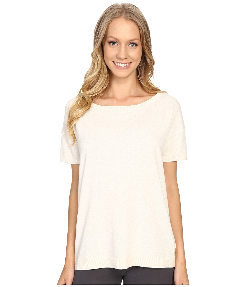 UGG - Jade Boat Neck Tee (Fresh Snow Heather) Women's T Shirt