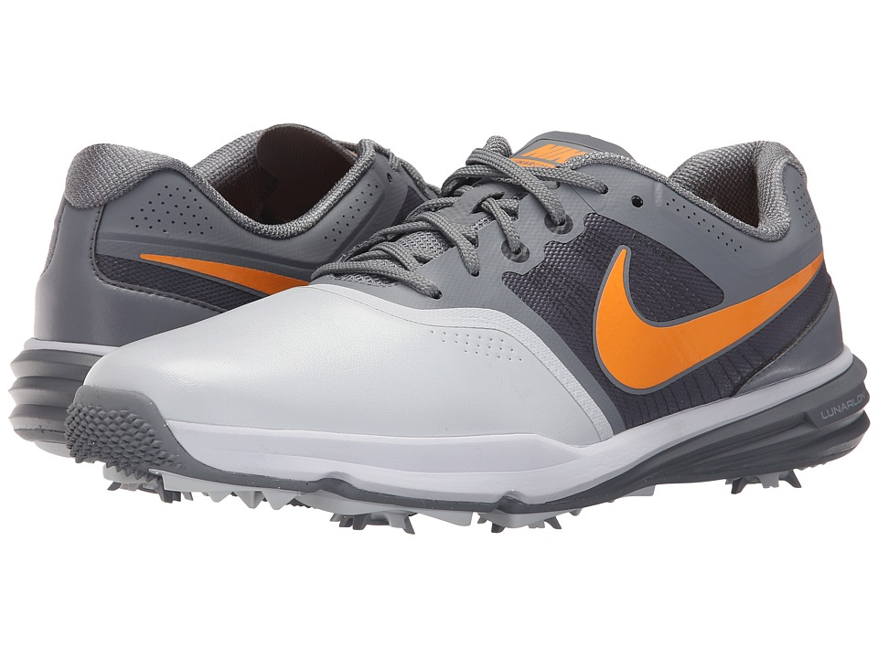 Nike Golf - Lunar Command (Pure Platinum/Vivid Orange/Classic Grey) Men's Golf Shoes