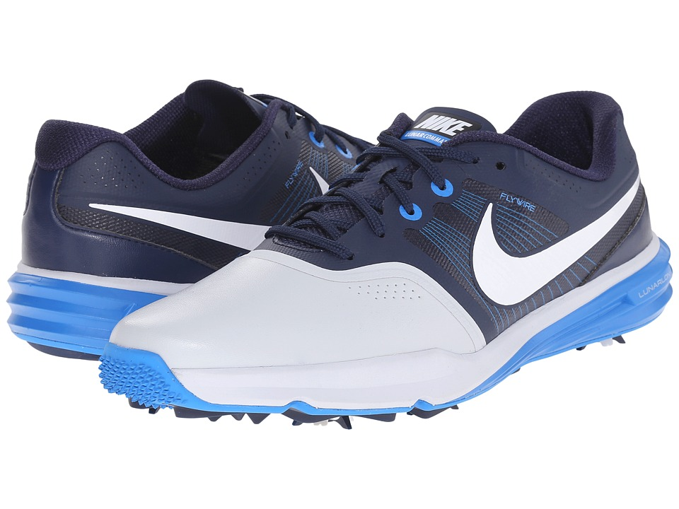 Nike Golf - Lunar Command (Pure Platinum/White/Midnight Navy/Photo Blue) Men's Golf Shoes