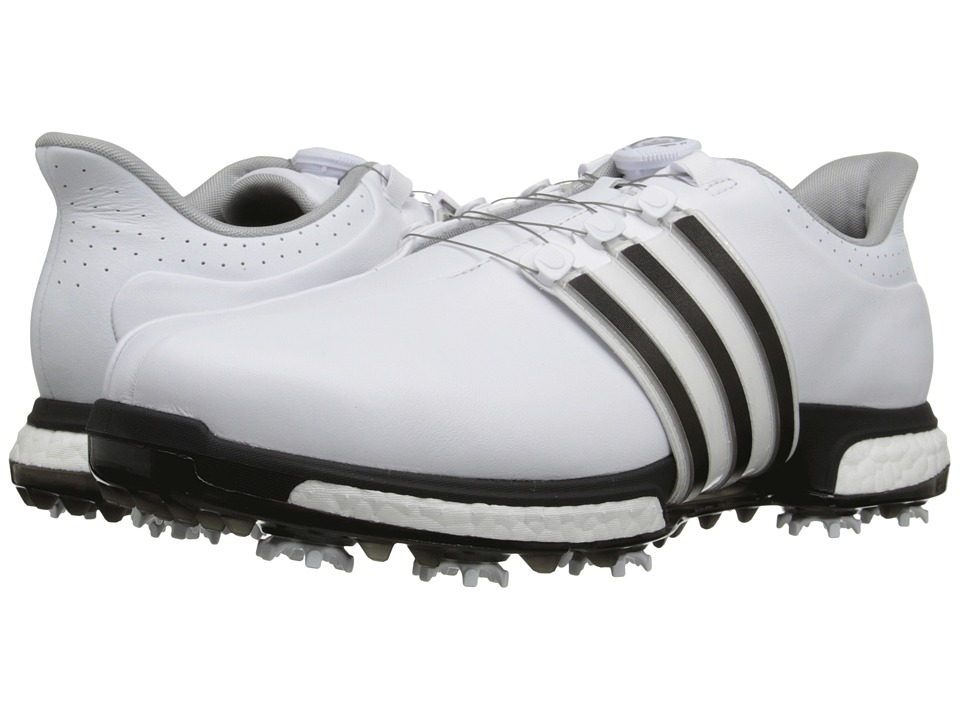adidas Golf - Tour360 Boa Boost (Ftwr White/Core Black/Dark Silver Metallic) Men's Golf Shoes