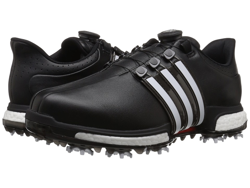 adidas Golf - Tour360 Boa Boost (Core Black/Ftwr White/Power Red) Men's Golf Shoes