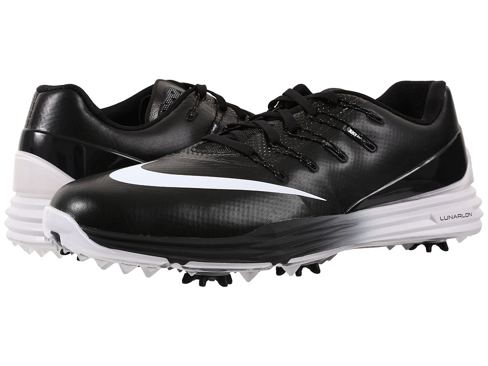 Nike Golf - Lunar Control 4 (Black/White/Black) Men's Golf Shoes