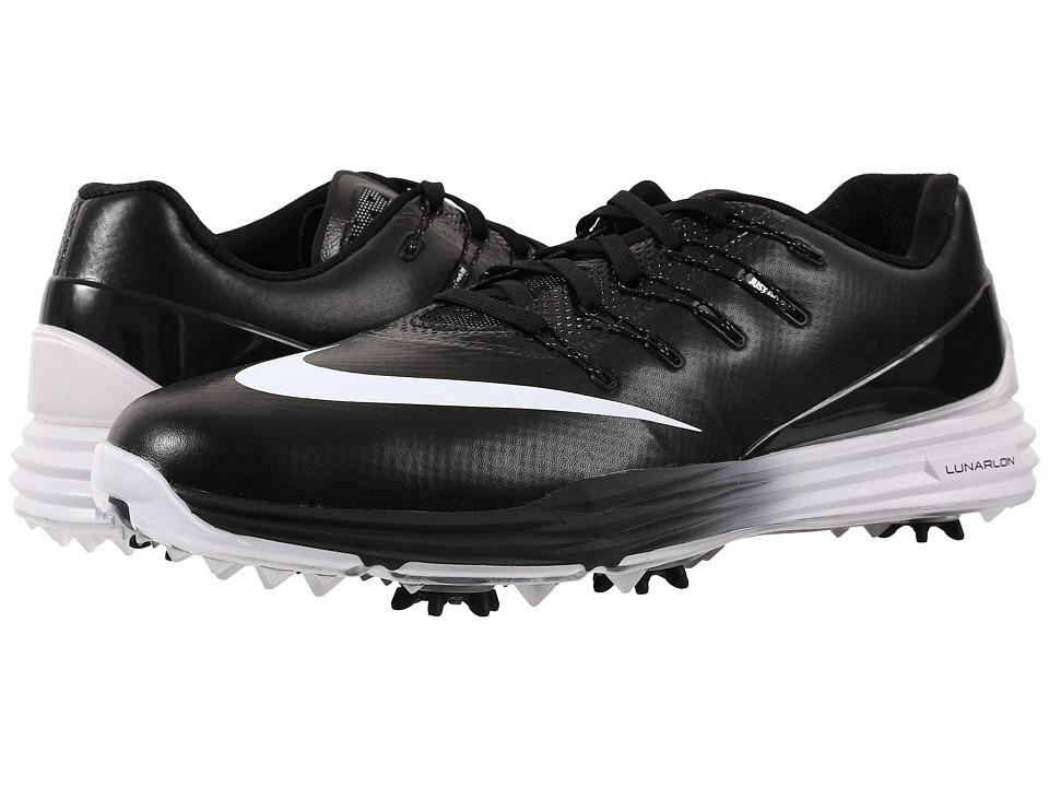 Nike Golf - Lunar Control 4 (Black/White/Black) Men's Golf Shoes