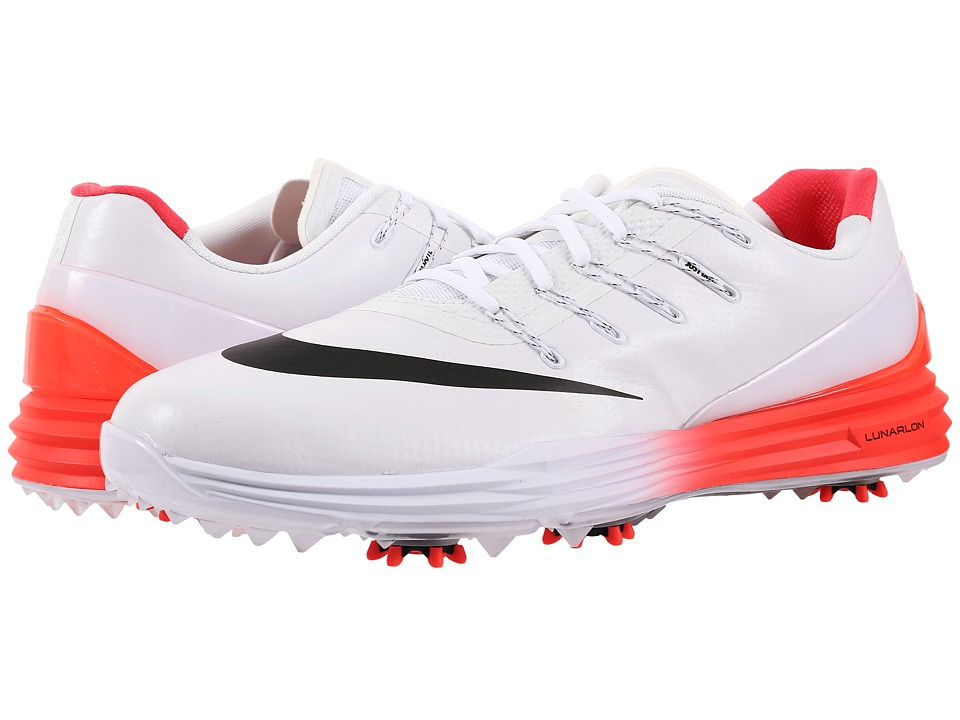 Nike Golf - Lunar Control 4 (White/Black/Bright Crimson) Men's Golf Shoes