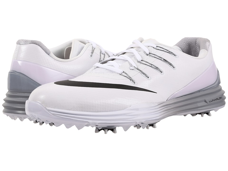Nike Golf - Lunar Control 4 (White/Black/Wolf Grey) Men's Golf Shoes