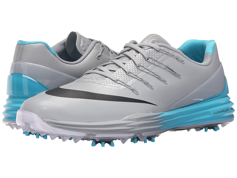 Nike Golf - Lunar Control 4 (Wolf Grey/Black/Blue/White) Men's Golf Shoes