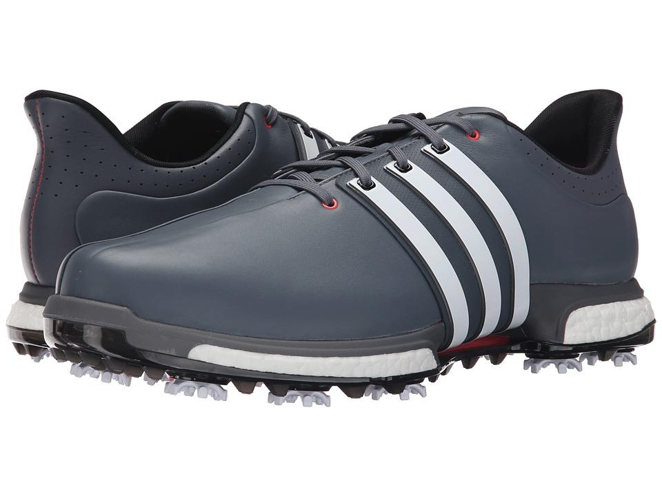 adidas Golf - Tour360 (Onix/Ftwr White/Shock Red) Men's Golf Shoes