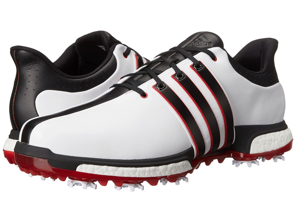 adidas Golf - Tour360 Boost (Ftwr White/Core Black/Power Red) Men's Golf Shoes