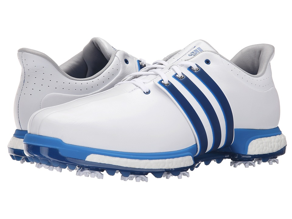 adidas Golf - Tour360 Boost (Ftwr White/Eqt Blue/Shock Blue) Men's Golf Shoes