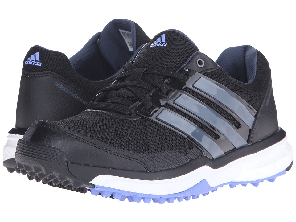 adidas Golf - Adipower S Boost II (Core Black/Bold Onix/Baja Blue-Tmag) Women's Golf Shoes