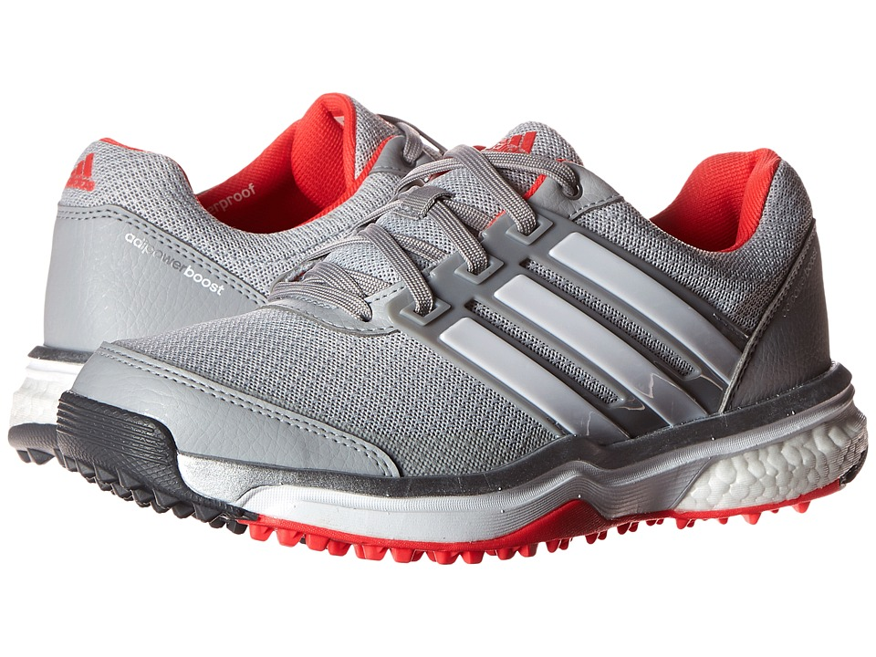 adidas Golf - Adipower S Boost II (Clear Onix/Ftwr White/Shock Red) Women's Golf Shoes