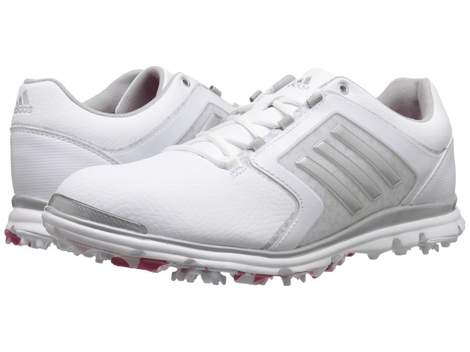 adidas Golf - Adistar Tour (Ftwr White/Matte Silver/Raspberry Rose-Tmag) Women's Golf Shoes