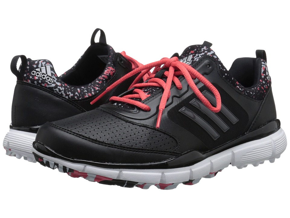 adidas Golf - Adistar Sport (Core Black/Dgh Solid Grey/Sunset Coral-Tmag) Women's Golf Shoes