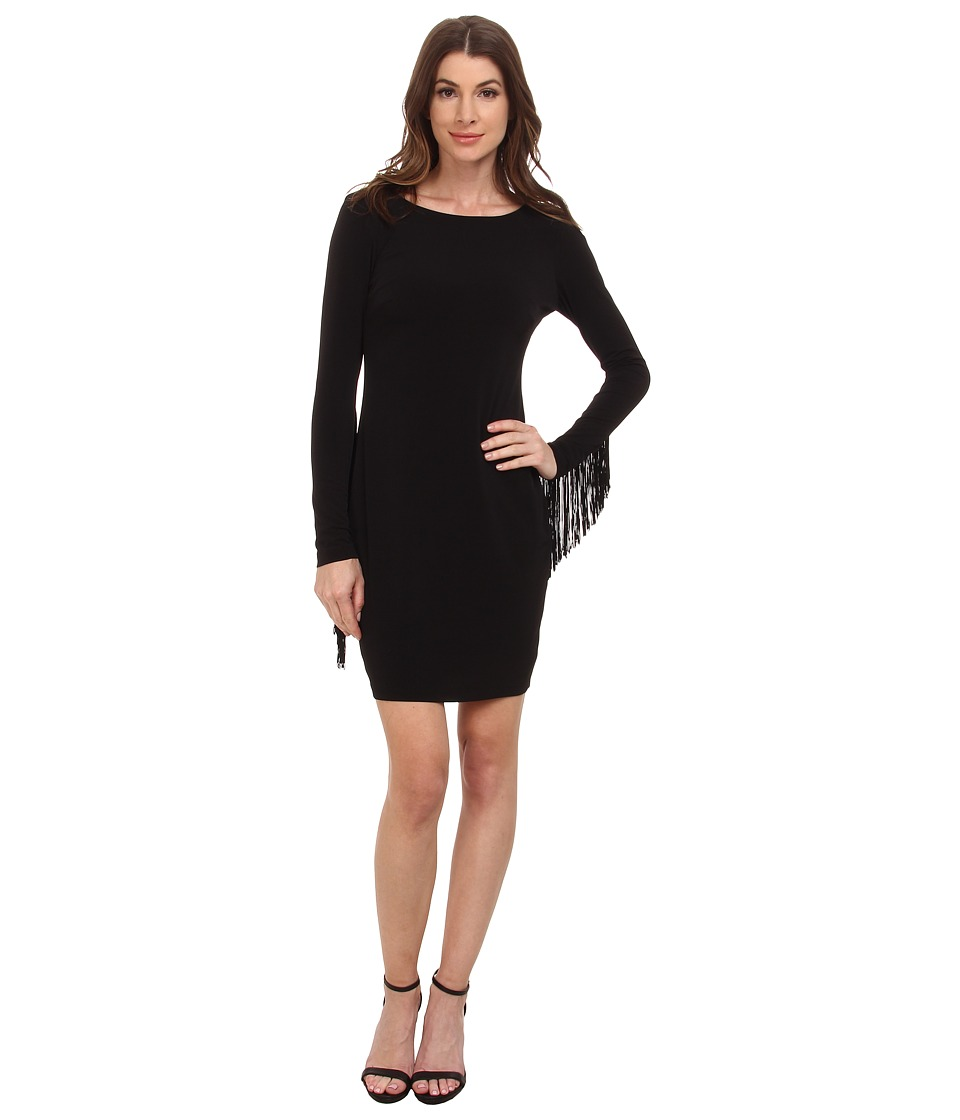 Jessica Simpson - 10th ANN Fringe Sleeve (Black) Women's Dress
