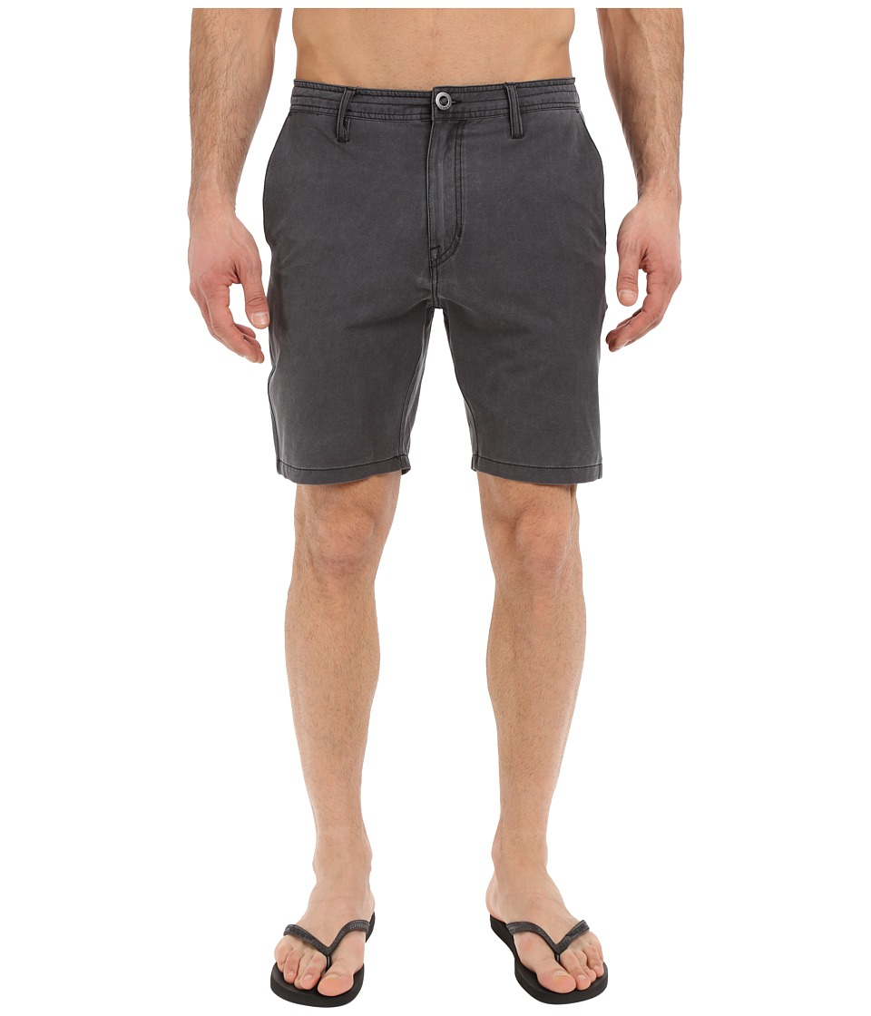Volcom - SNT Faded Hybrid Shorts (Black) Men's Shorts