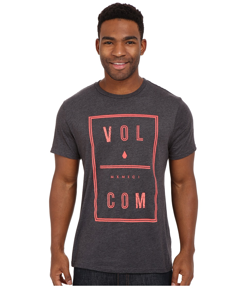 Volcom - Saturday Tee (Heather Black) Men's Short Sleeve Pullover