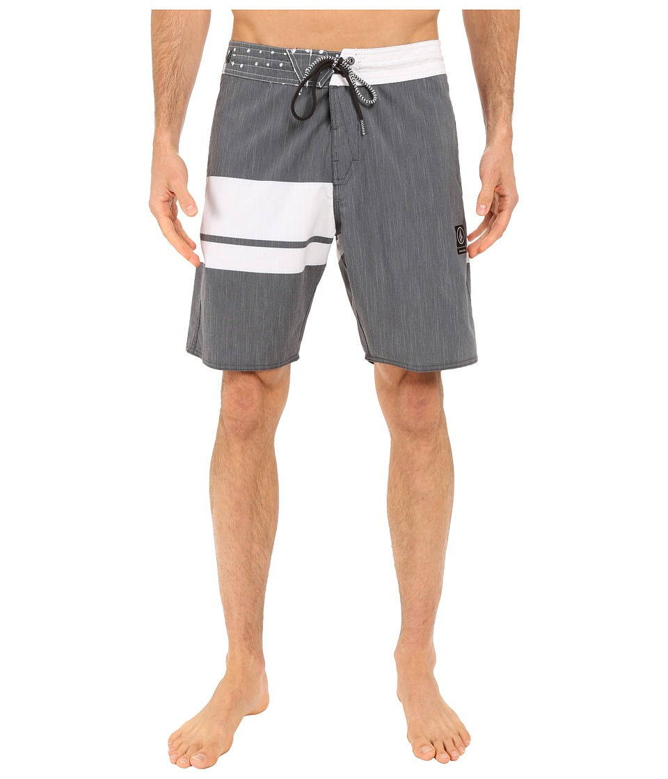 Volcom - 3 Quarta Slinger 19 Boardshorts (Black) Men's Swimwear