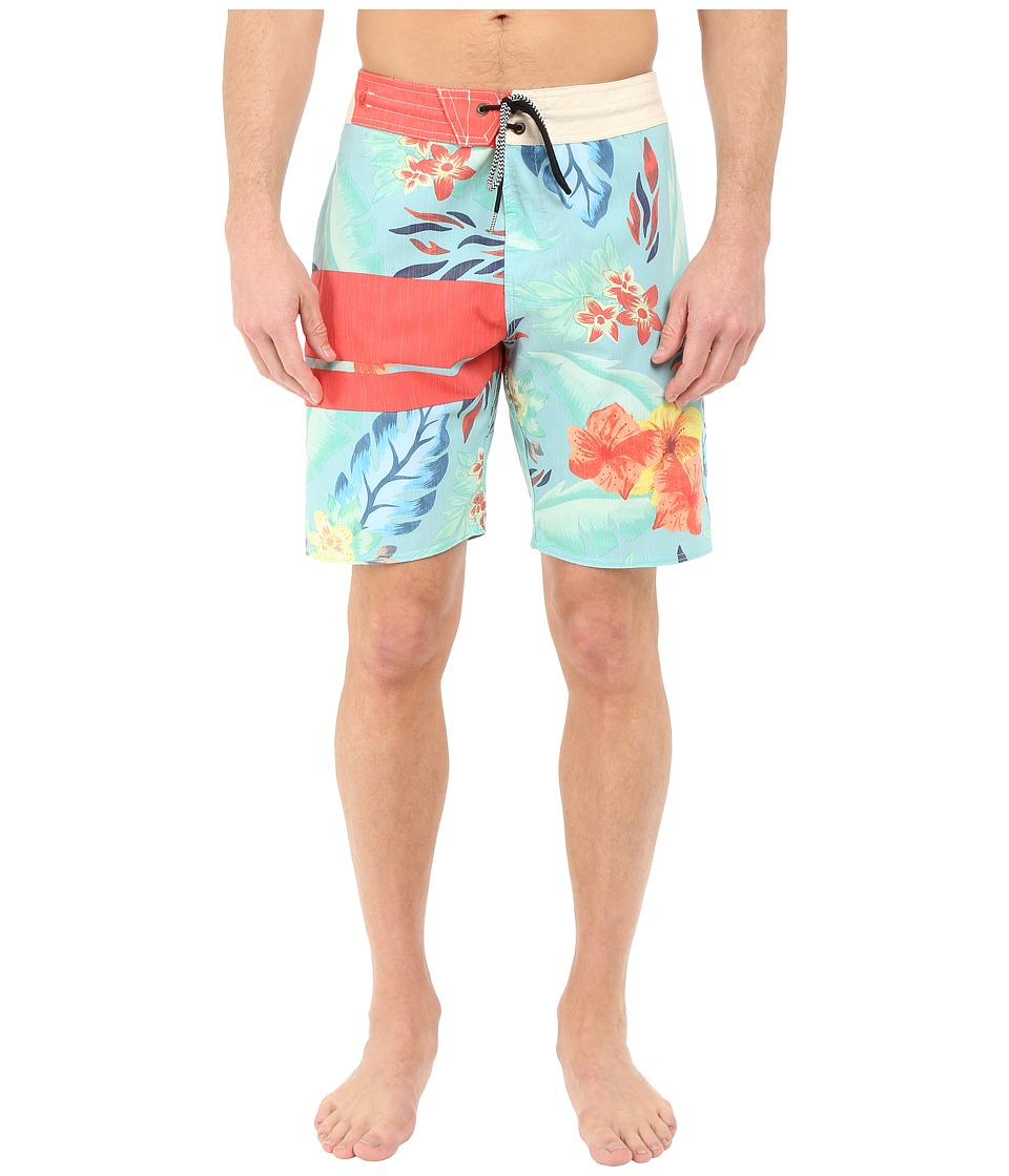 Volcom - 3 Quarta Slinger 19 Boardshorts (Bright Turquoise) Men's Swimwear