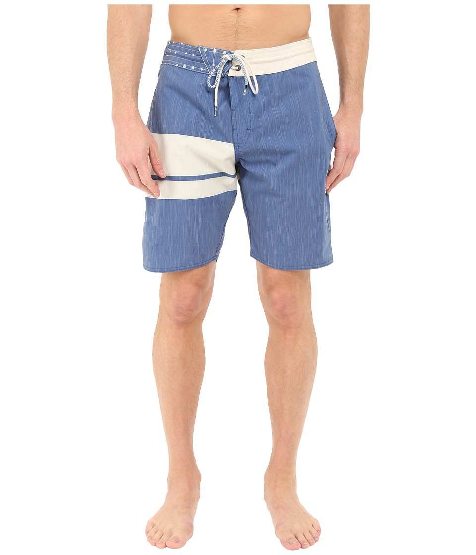 Volcom - 3 Quarta Slinger 19 Boardshorts (Camper Blue) Men's Swimwear