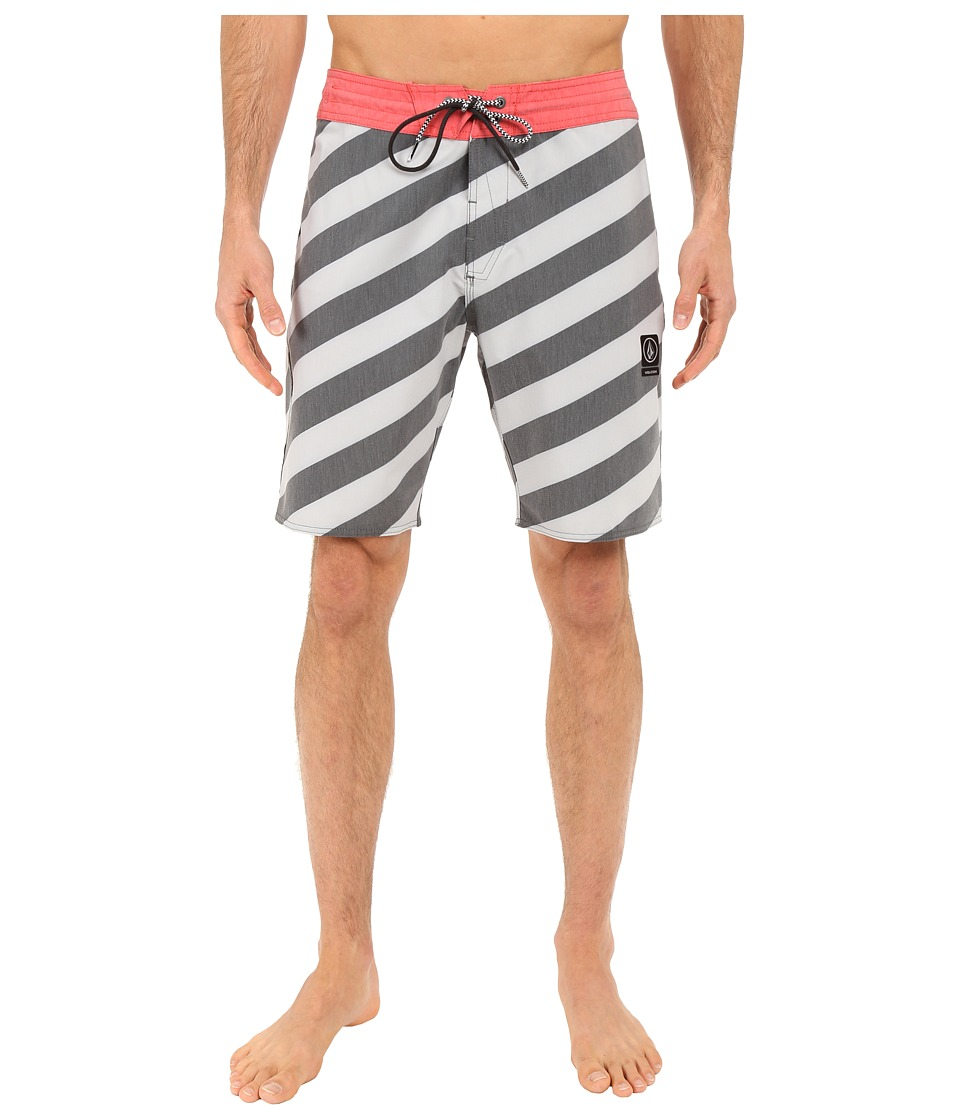 Volcom - Stripey Slinger 19 Boardshorts (Cool Grey) Men's Swimwear