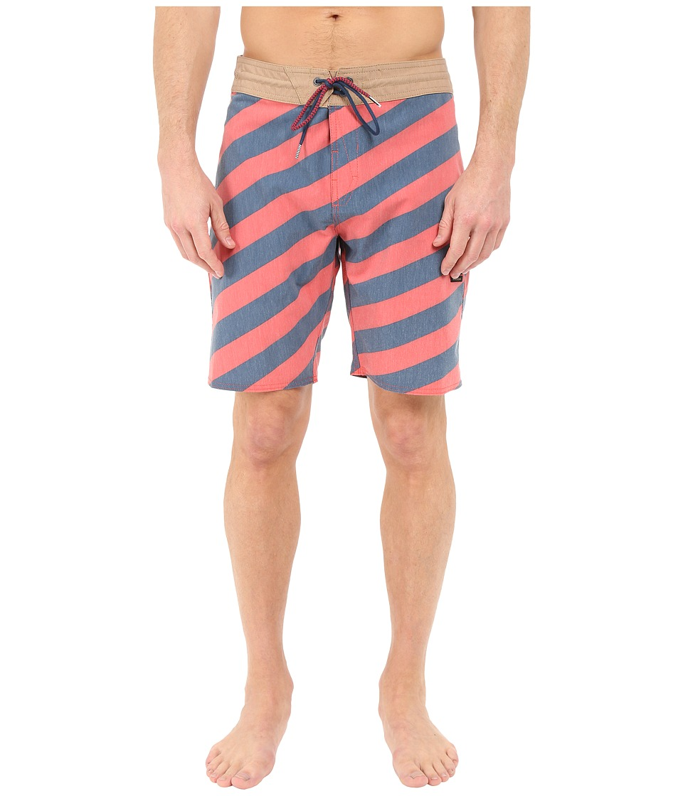 Volcom - Stripey Slinger 19 Boardshorts (Dust Red) Men's Swimwear