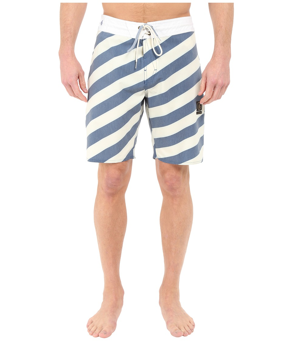 Volcom - Stripey Slinger 19 Boardshorts (Royal) Men's Swimwear