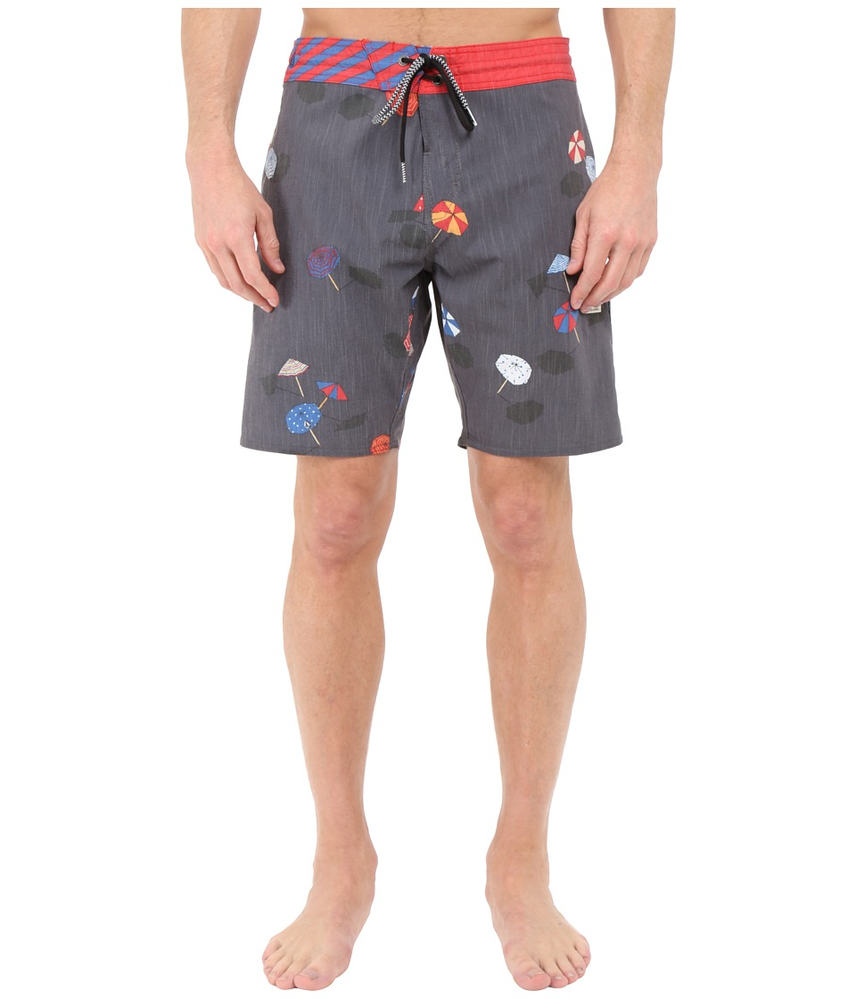 Volcom - Happy Hour Slinger 18 Boardshorts (Charred) Men's Swimwear
