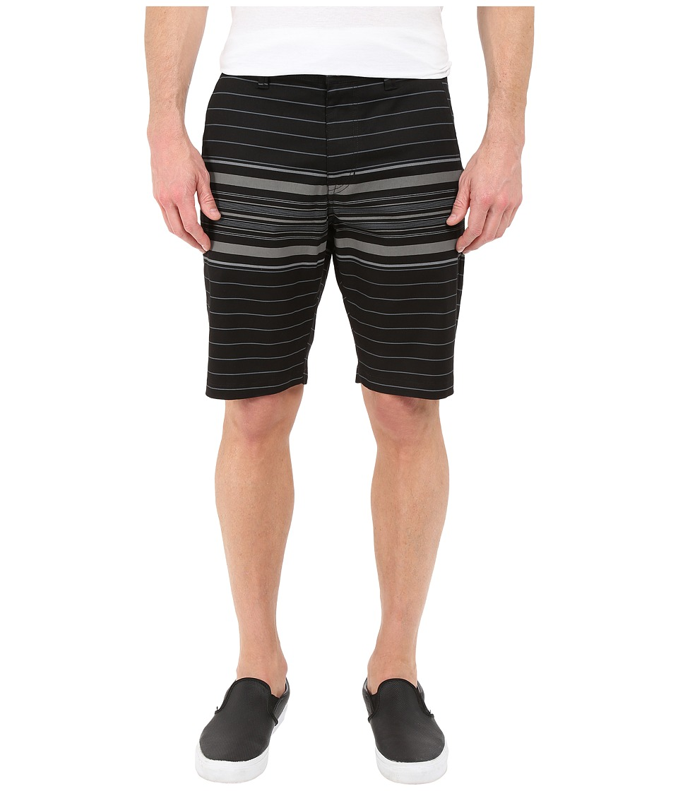 Volcom - Frickin Modern Stretch Stripe Shorts (Black) Men's Shorts