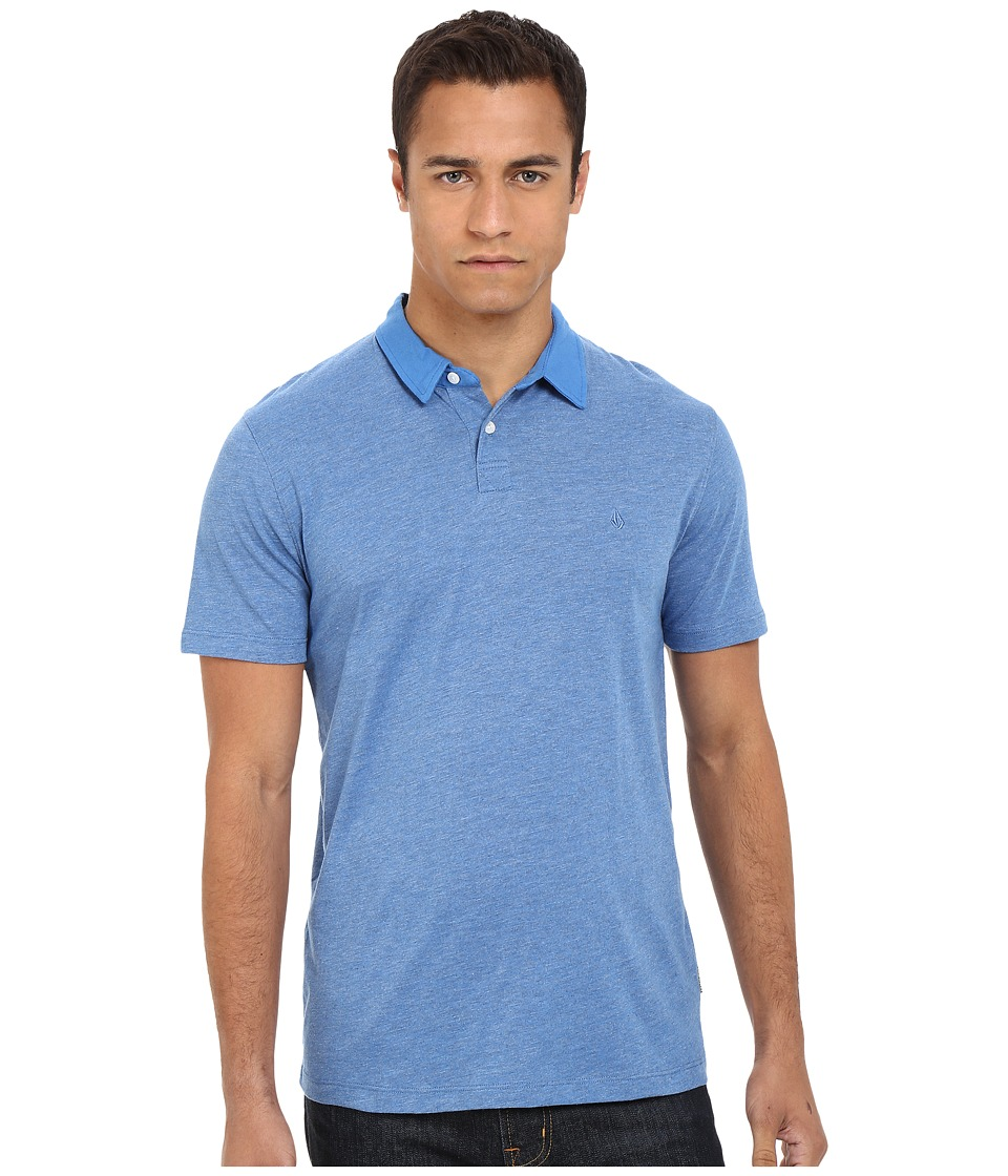 Volcom - Wowzer Grind Polo (Free Blue) Men's Sleeveless
