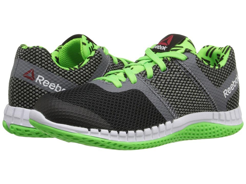 Reebok Kids - Zprint Run GR (Little Kid) (Green/Shark/Black/White) Kid's Shoes