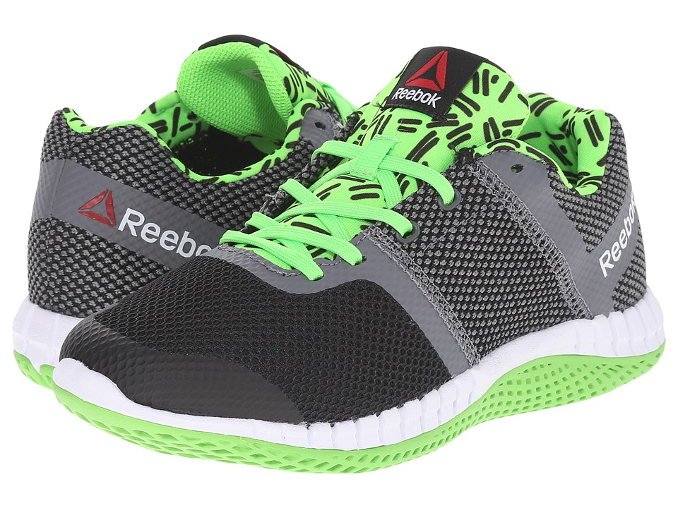 Reebok Kids - Zprint Run GR (Big Kid) (Green/Shark/Black) Kid's Shoes
