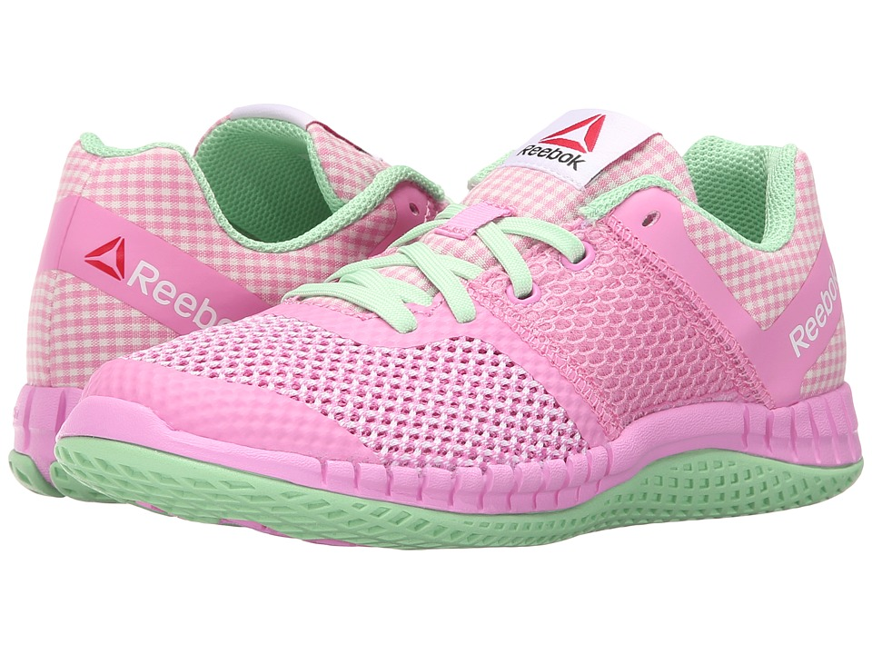 Reebok Kids - Zprint Run GR (Little Kid) (Pink/Green/White) Kid's Shoes
