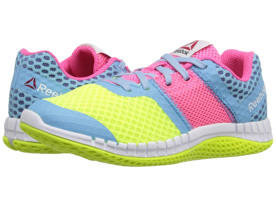 Reebok Kids - Zprint Run GR (Little Kid) (Yellow/Blue/Pink/White) Kid's Shoes