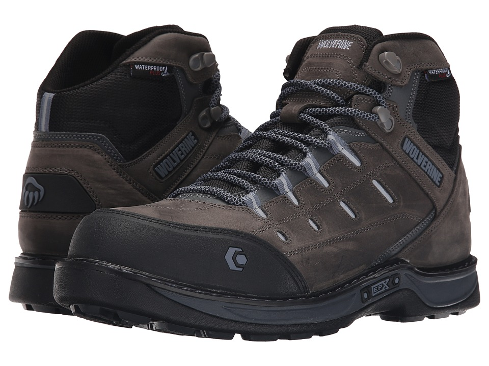 Wolverine - Edge LX EPXtm Waterproof Carbonmax (Grey/Blue) Men's Work Lace-up Boots