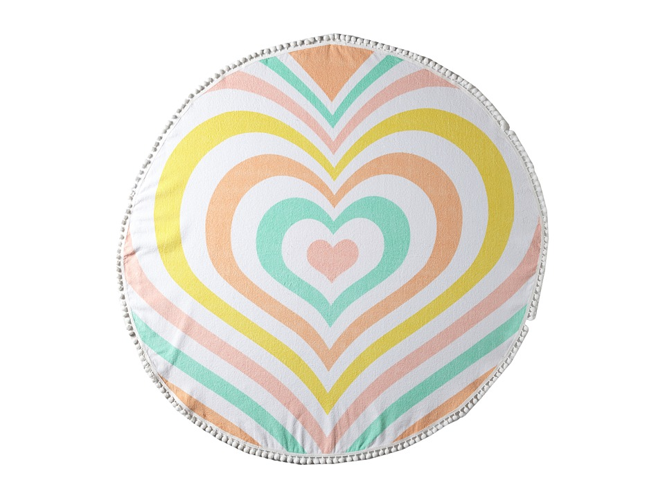 Lolli - Heart Towel (Rainbow) Bath Towels