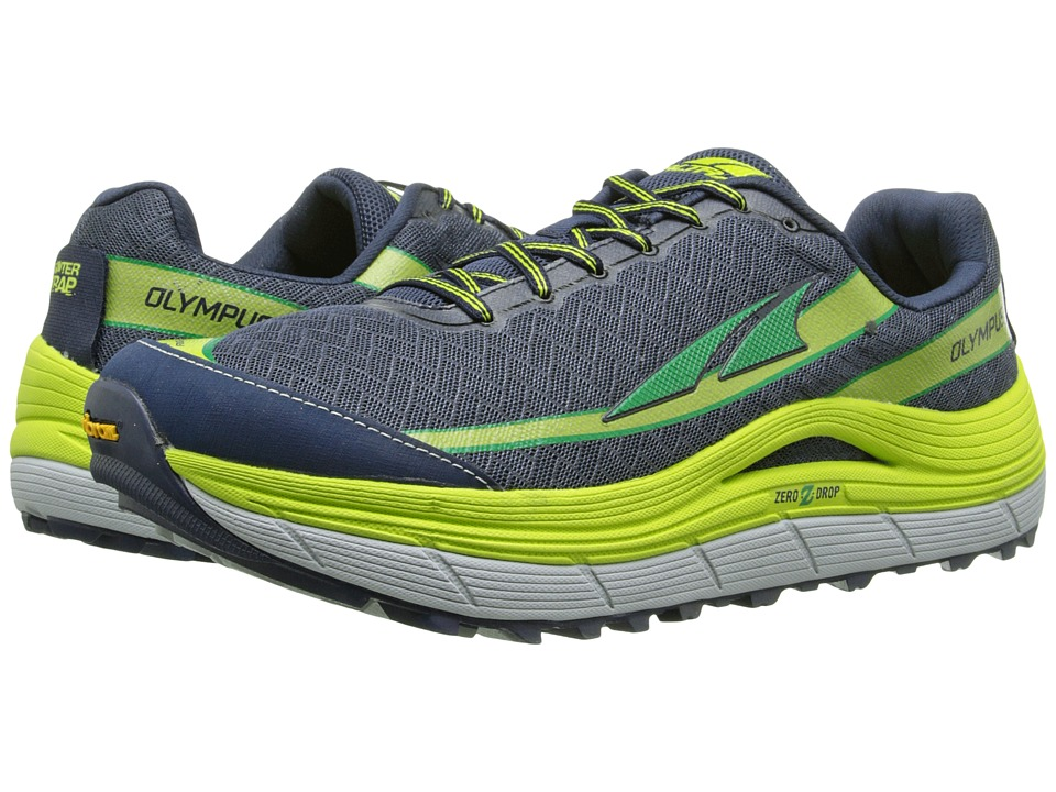 Altra Footwear - Olympus 2 (Silver/Cyber Yellow) Men's Running Shoes