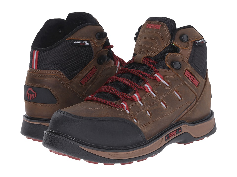 Wolverine Edge LX EPX WPF (Brown/Red) Men