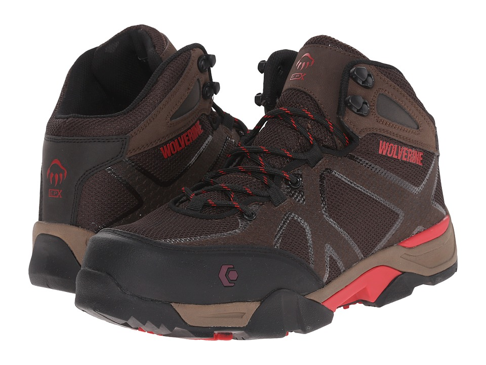 Wolverine - Thunderhead SX EPX Nano Toe (Light Brown/Red) Men's Work Lace-up Boots