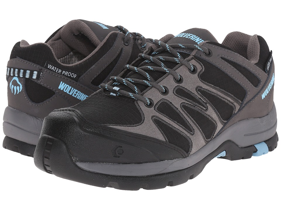 Wolverine - Fletcher NT Low WPF Work Hiker (Black/Blue) Women's Lace up casual Shoes