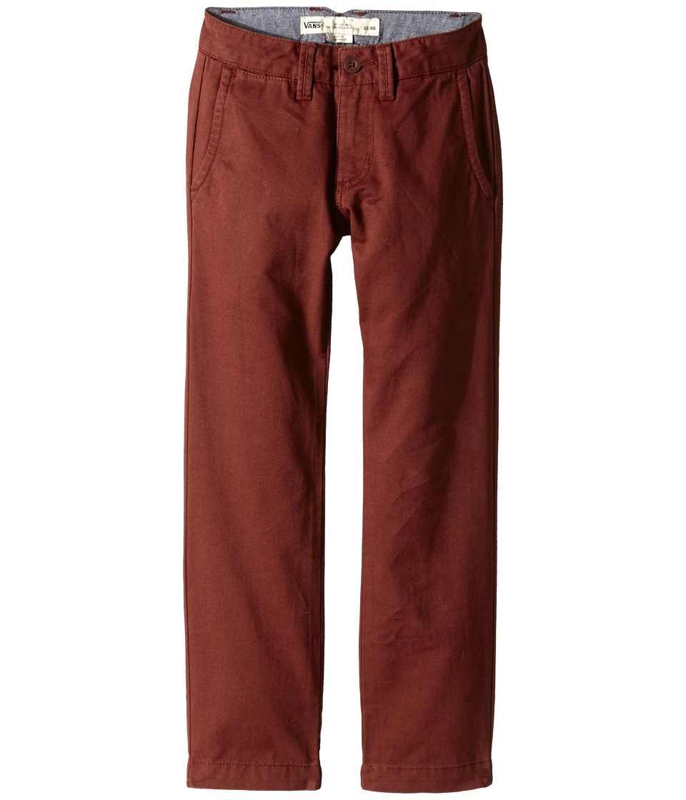 Vans Kids - Excerpt Chino Pants (Little Kids/Big Kids) (Brick Maroon) Boy's Casual Pants