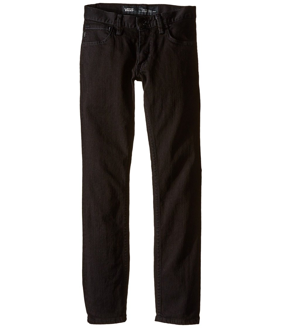 Vans Kids - V76 Skinny Pants (Little Kids/Big Kids) (Overdye Black) Boy's Casual Pants