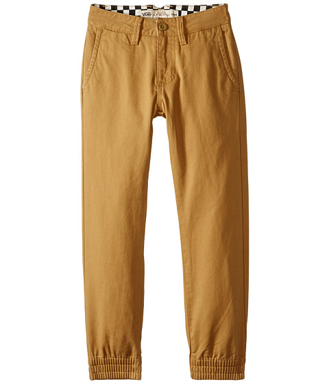 Vans Kids - Excerpt Chino Pegged Pants (Little Kids/Big Kids) (New Mushroom Brown) Boy