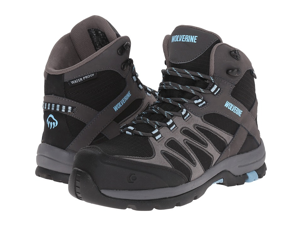 Wolverine - Fletcher NT Mid WPF Work Hiker (Black/Blue) Women's Work Lace-up Boots