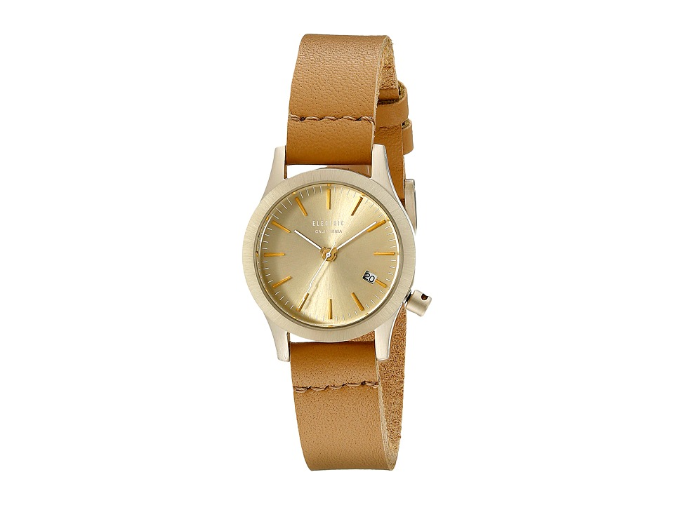 Electric Eyewear - FW03 Mini Leather (Gold/Tan) Sport Watches