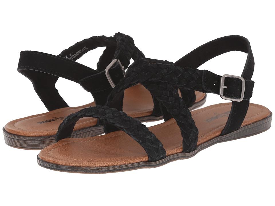Minnetonka - Santorini (Black Suede) Women's Sandals