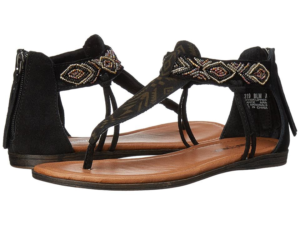 Minnetonka Antigua (Black Suede/Metallic Beads) Women