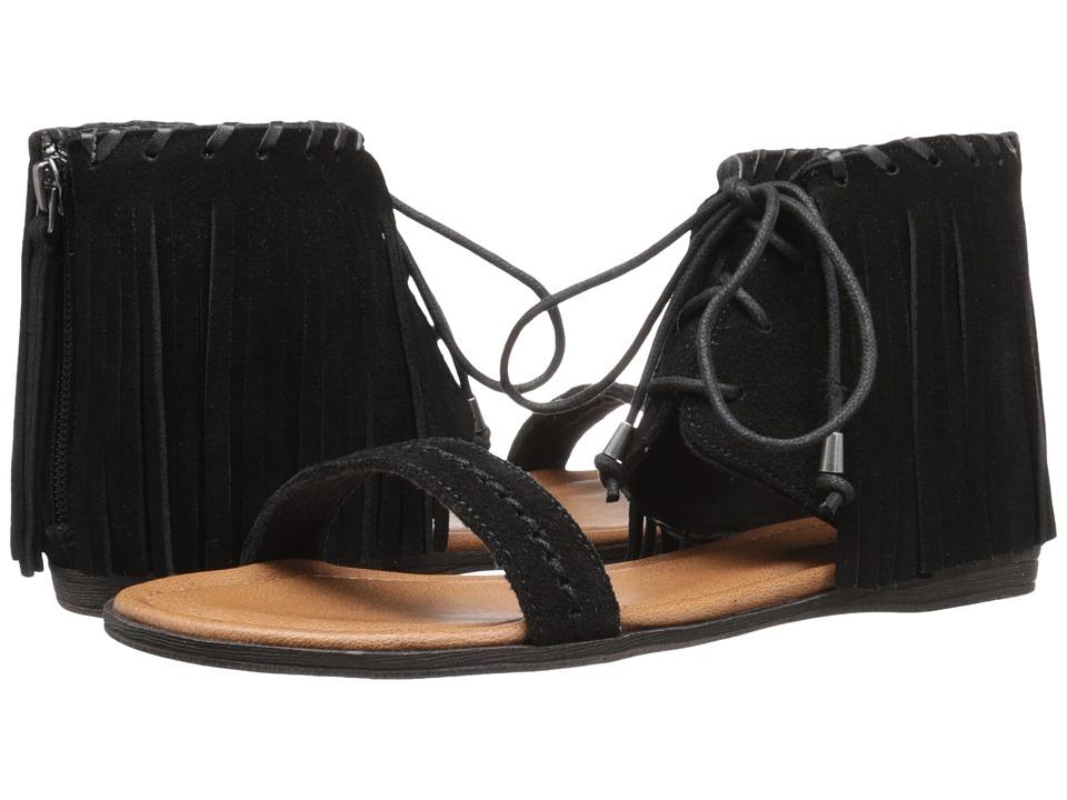 Minnetonka - Havana (Black Suede) Women's Sandals