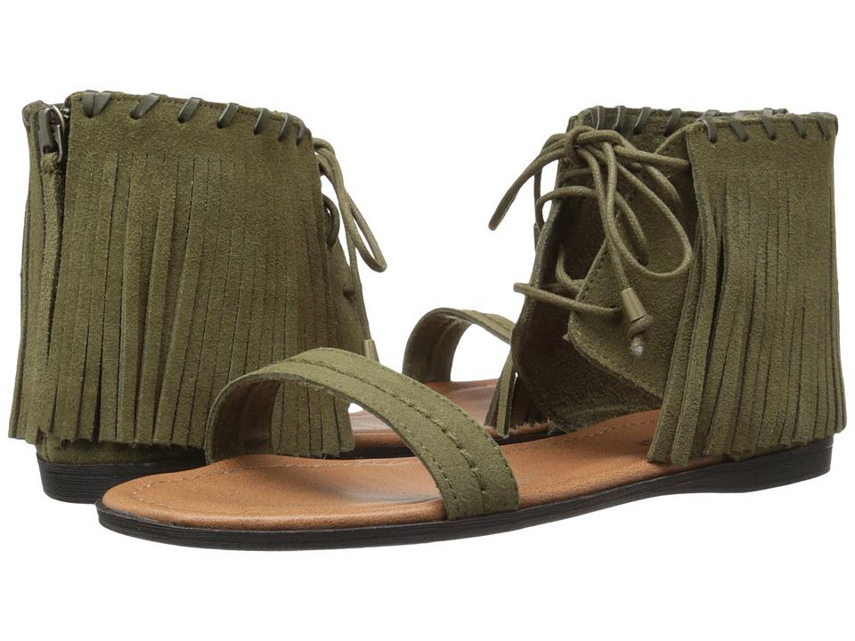 Minnetonka - Havana (Loden Green Suede) Women's Sandals