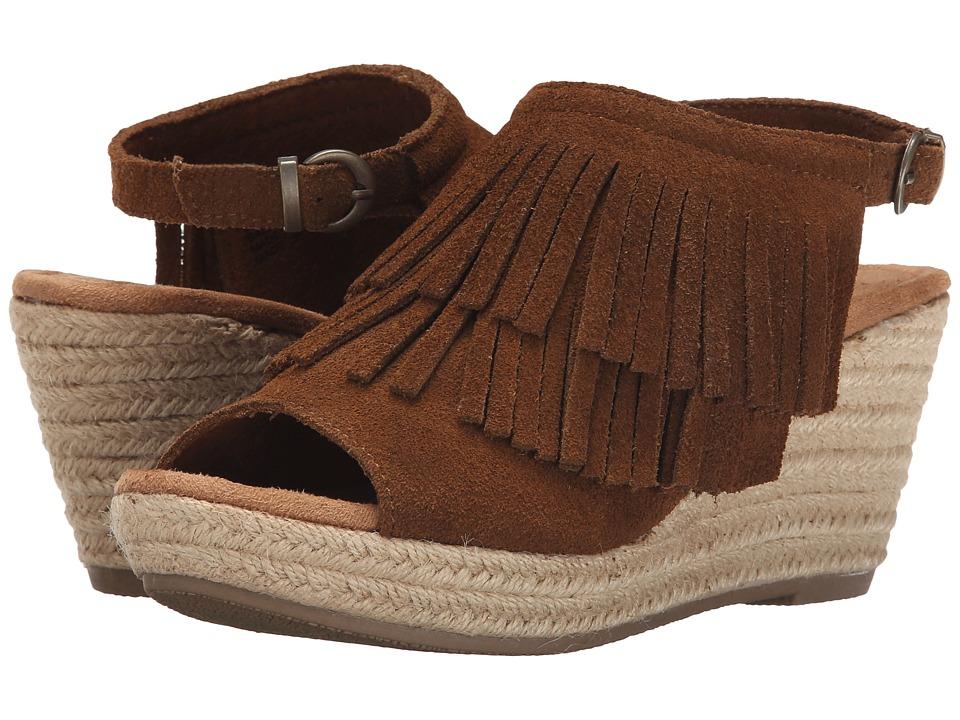 Minnetonka - Ashley (Dusty Brown) Women's Wedge Shoes