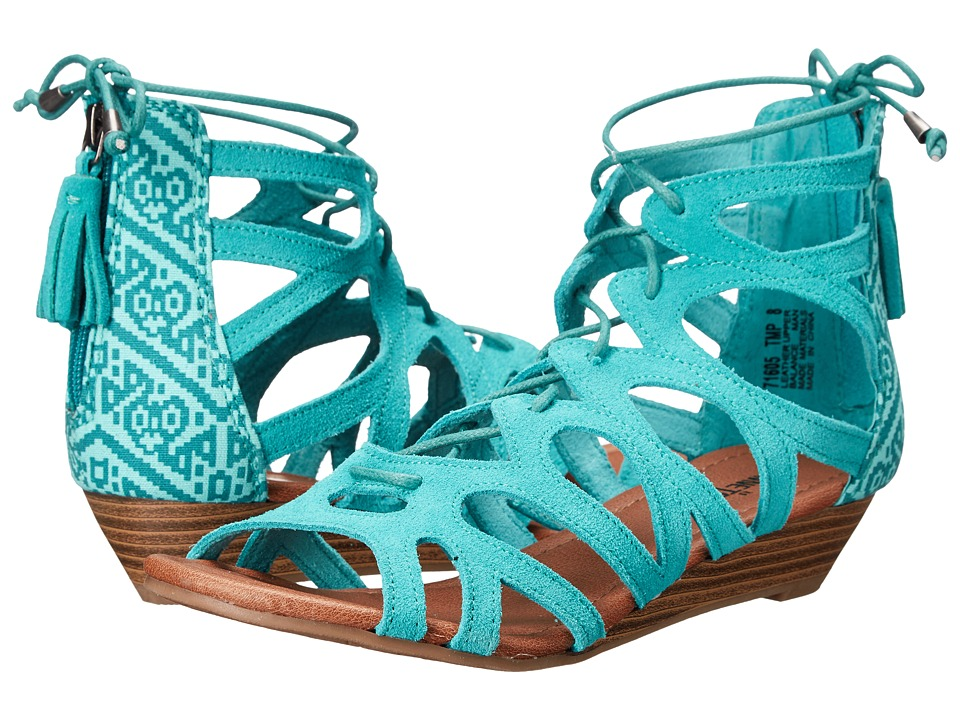 Minnetonka - Merida II (Turquoise Suede/Turquoise Mesa Fabric) Women's Flat Shoes
